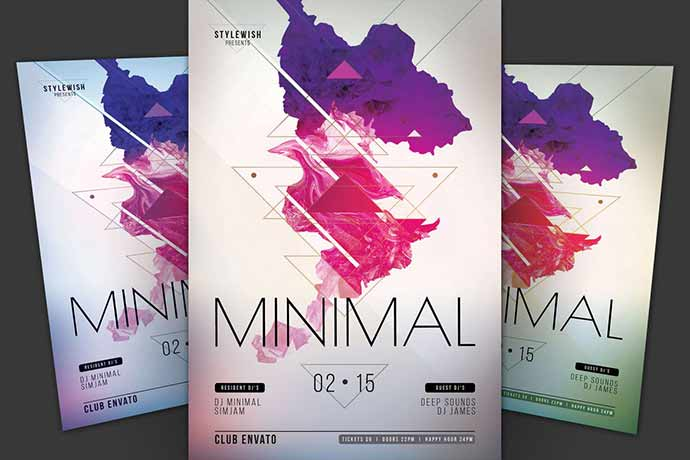 Minimal-Flyer - 35+ Attractive Double Exposure PSD Flyer Design [year]