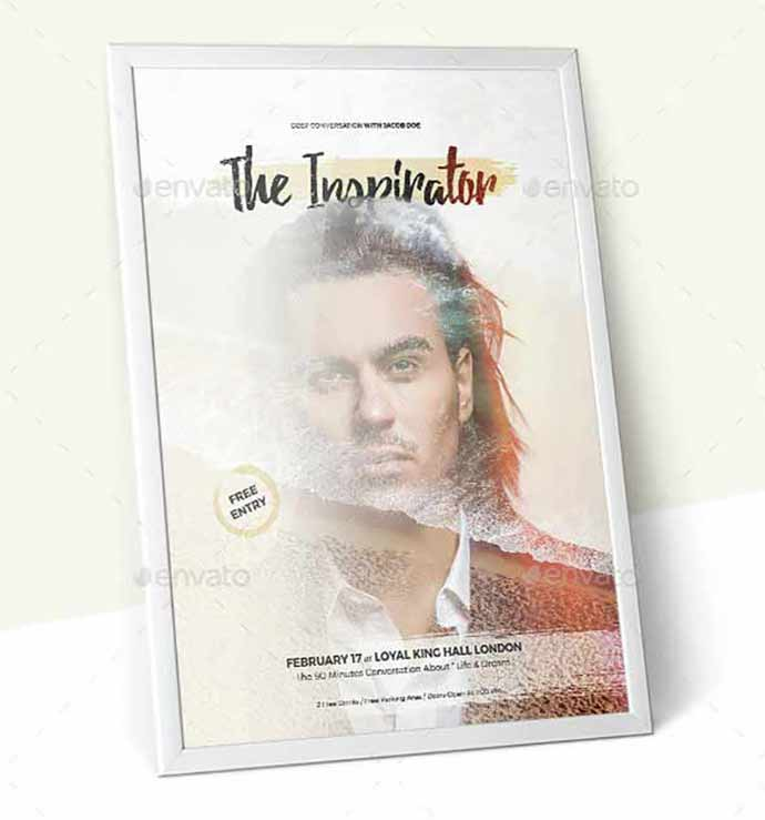 Minimal-FlyerPoster-Template - 35+ Attractive Double Exposure PSD Flyer Design [year]
