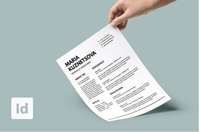 Minimalist-Resume - 35+ Stunning Black & White Resume Templates [year]