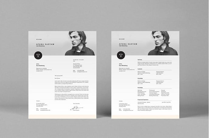 Modern-simple-and-unique-layouts-with-strong-typography - 35+ Stunning Black & White Resume Templates [year]