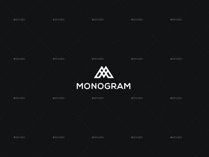 Monogram-–-Logo-Template - 35+ Excellent Monogram Logo Design Templates