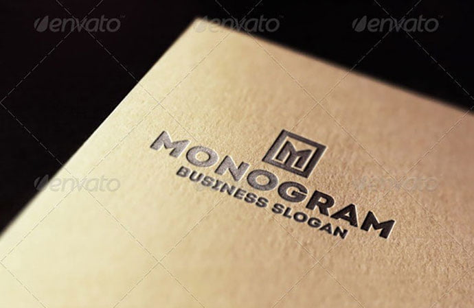 Monogram-M-Logo-Letter - 35+ Excellent Monogram Logo Design Templates [year]