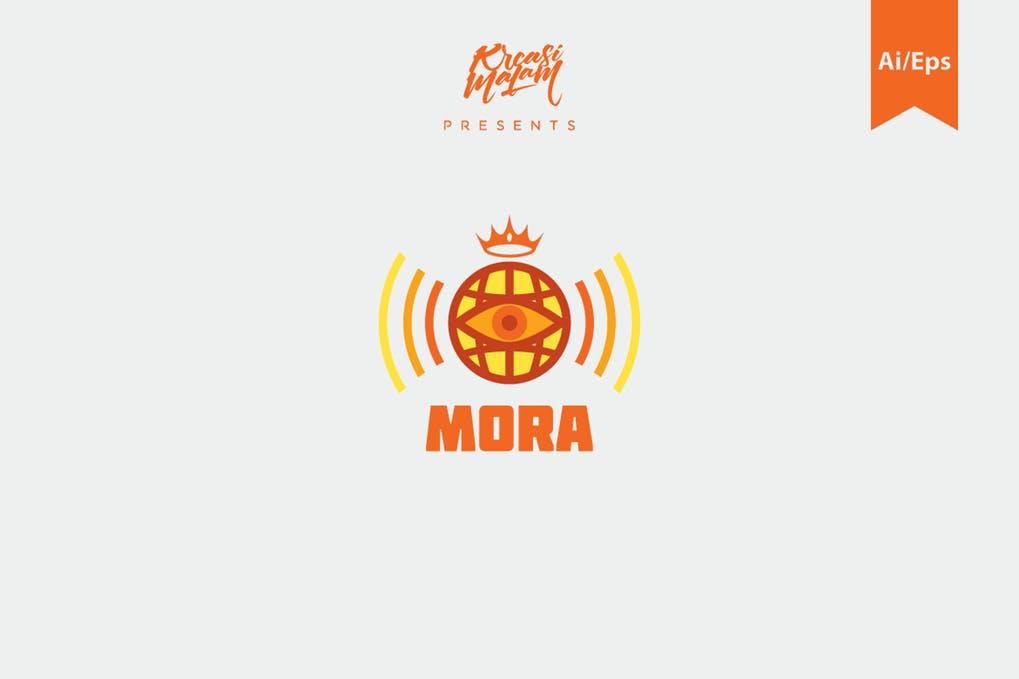 Mora-Logo-Template - 35+ Awesome Eye Logo Design Templates [year]