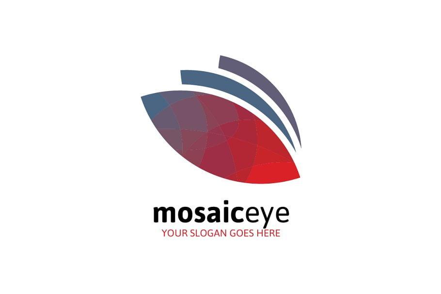 Mosaic-Eye-Logo - 35+ Awesome Eye Logo Design Templates [year]