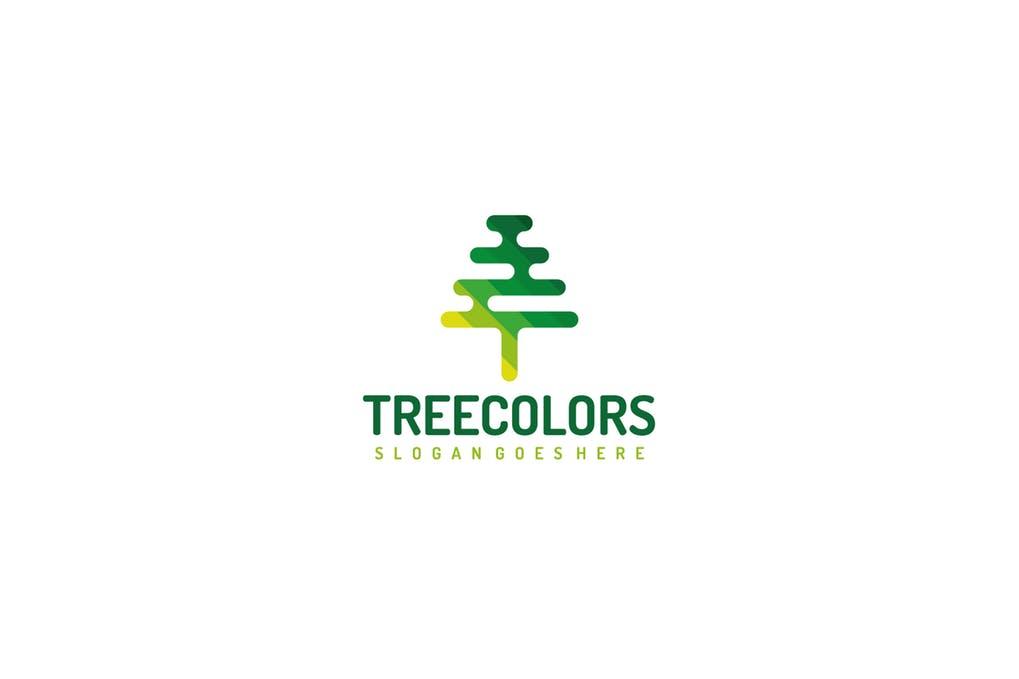 Mosaic-Tree - 60+ Strong Tree Logo Design Templates [year]