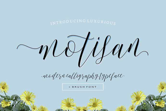 Motisan-Script - 52+ Wonderful Fonts for Calligraphy Logo Design [year]
