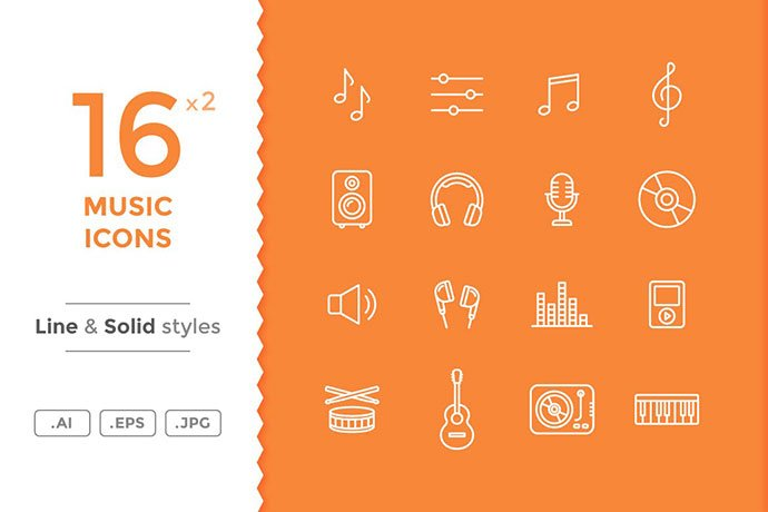 Music-Icons - 35+ Best Music & Sound Icon Sets [year]