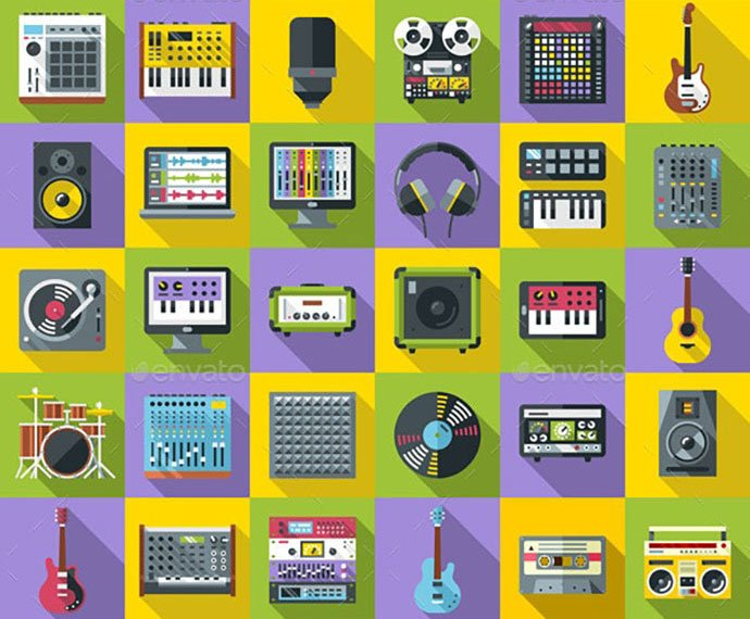 Music-Recording - 35+ Best Music & Sound Icon Sets [year]