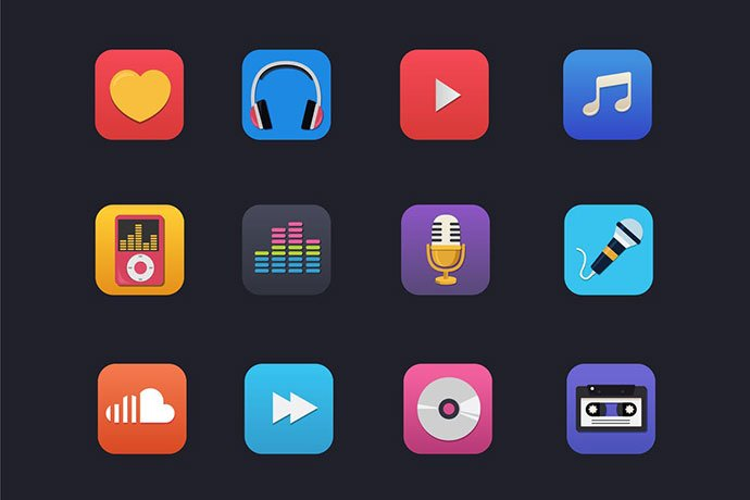 Musical-Icons - 35+ Best Music & Sound Icon Sets [year]