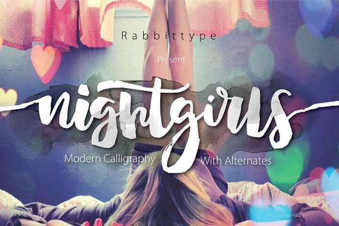 NIGHTGIRLS - 52+ Wonderful Fonts for Calligraphy Logo Design [year]
