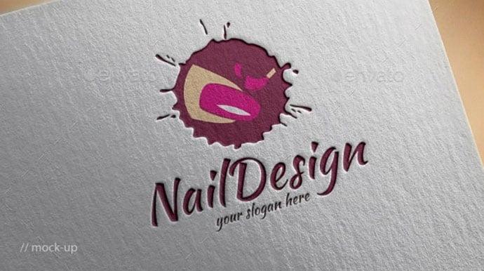 Nail-Logo-Template - 50+ Stunning Beauty Salon Logo Design Templates [year]