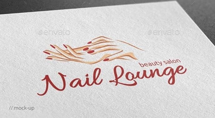 Nail-Lounge-Logo-Template - 50+ Stunning Beauty Salon Logo Design Templates [year]
