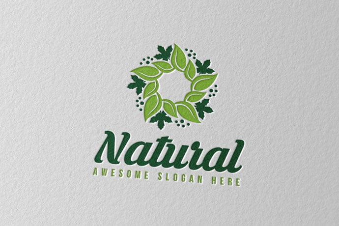 Natural - 50+ Stunning Beauty Salon Logo Design Templates [year]