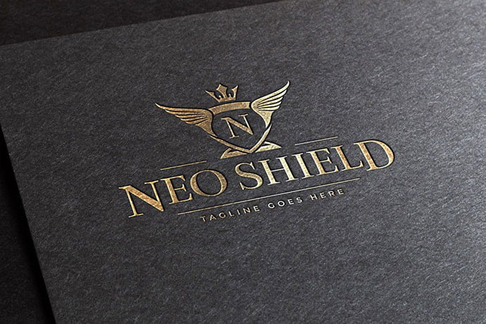 Neo-Shield-Logo-Template - 35+ Amazing Heraldry Logo Design Templates [year]