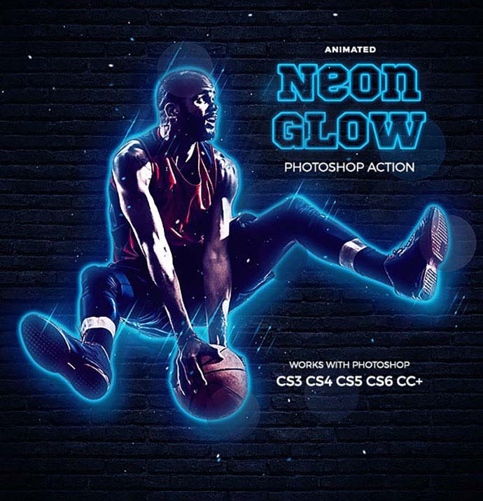 Neon-Glow-Photoshop-Action-Animated - 35+ Attractive Glow Effect Photoshop Actions