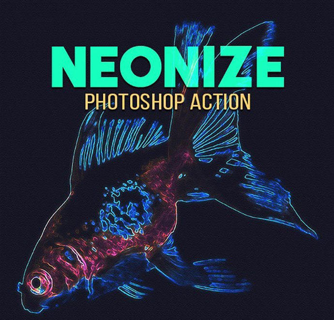 Neonize-Photoshop-Action - 35+ Attractive Glow Effect Photoshop Actions