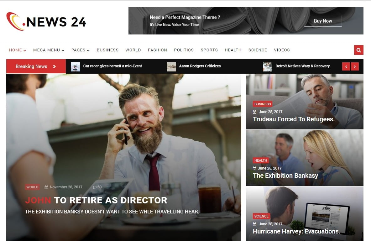 News-24-1 - 45+ Responsive News Website Templates [year]