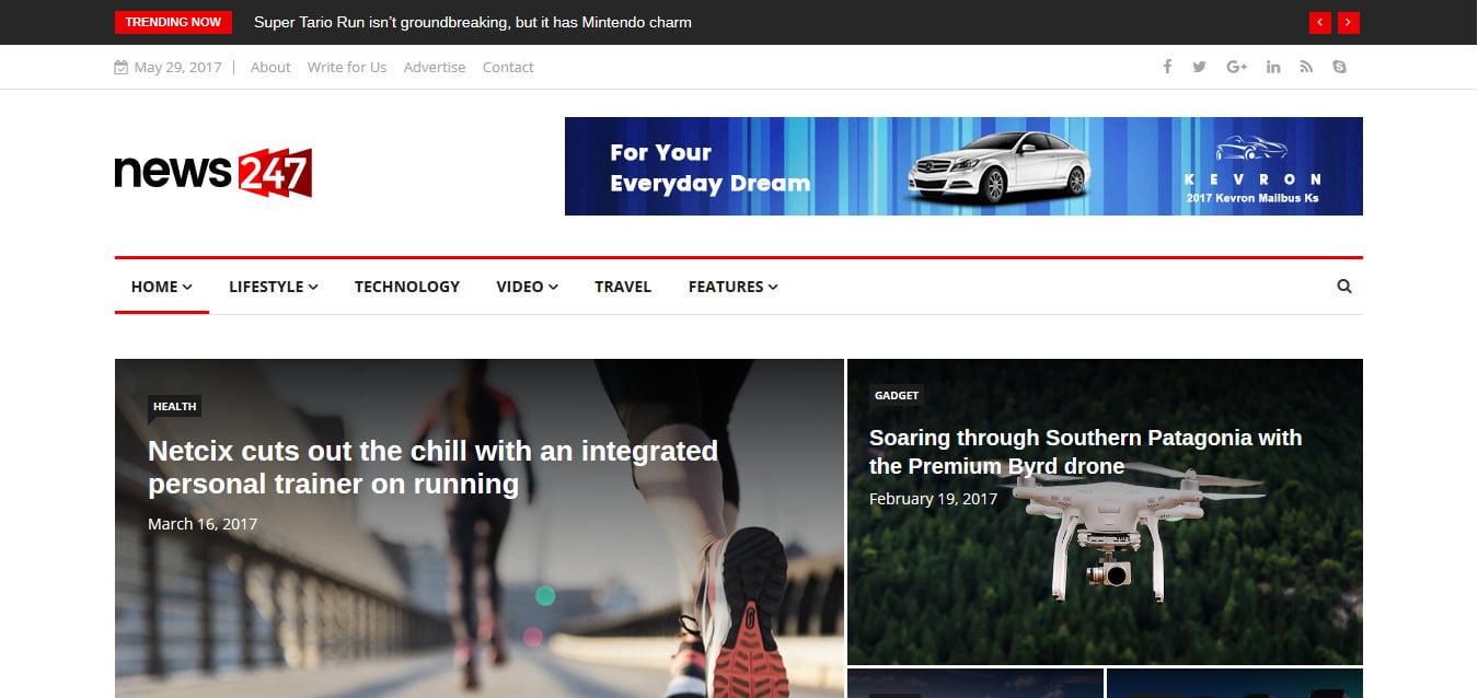News-247 - 45+ Responsive News Website Templates [year]