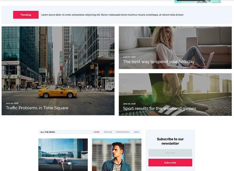 NewsFlex - 42+ Best Free News Website Templates [year]