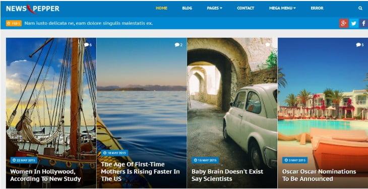 NewsPepper - 45+ Responsive News Website Templates [year]