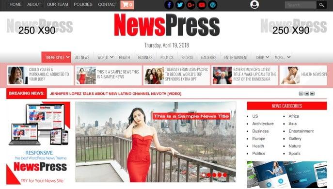 NewsPress - 45+ Responsive News Website Templates [year]
