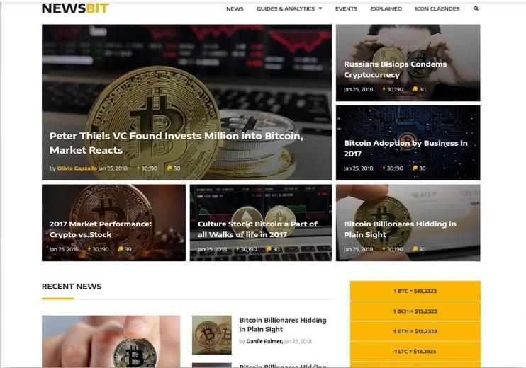 Newsbit - 42+ Best Free News Website Templates [year]