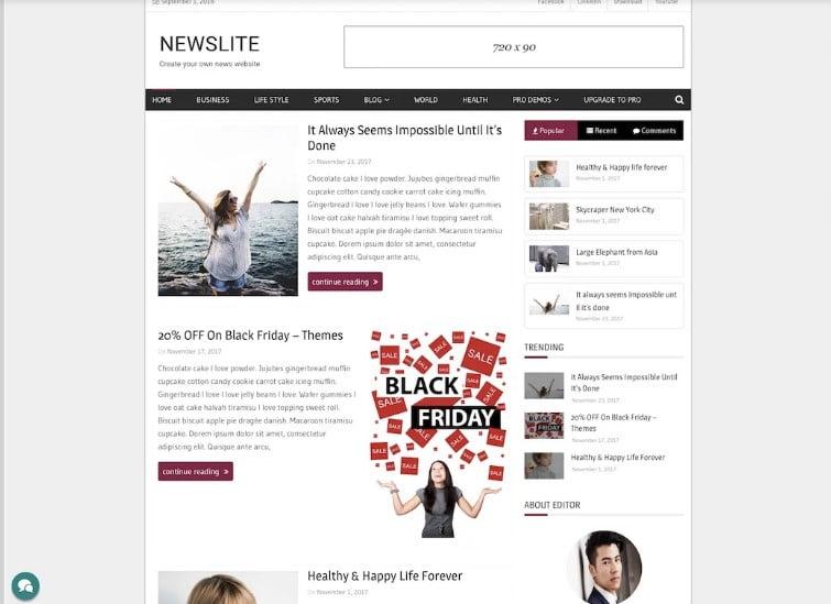Newslite - 42+ Best Free News Website Templates [year]