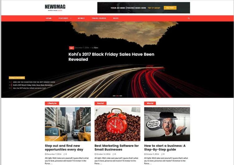 Newsmag-PRO - Top 60+ News Magazine WordPress Themes [year]