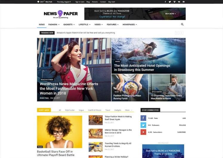 Newspaper-1 - Top 60+ News Magazine WordPress Themes [year]