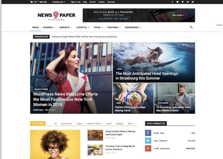 Newspaper-2 - 46+ Best WordPress Newspaper Themes for News Sites [year]