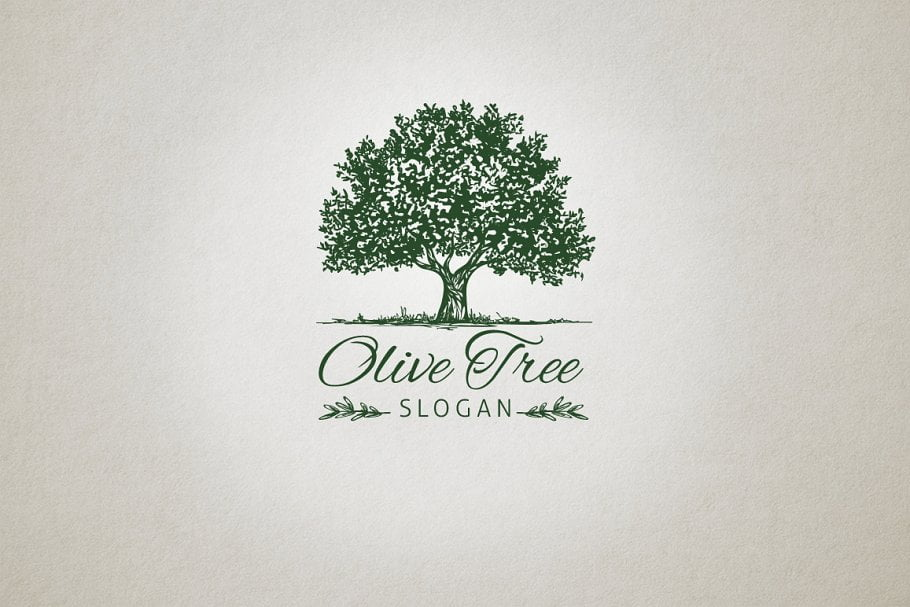 Olive-Tree - 60+ Strong Tree Logo Design Templates [year]