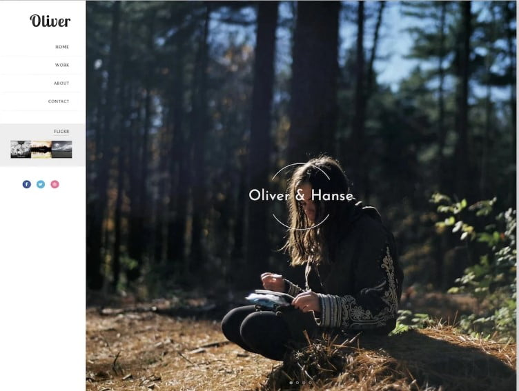 Oliver - 60+ Best Free Responsive News Blogger Templates [year]