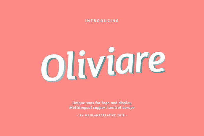 Oliviare-Typeface - 35+ Effective Fonts for Brochure Design [year]
