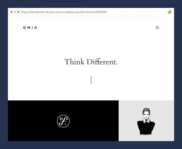 Omio - 35+ Minimal WordPress Theme Designs For Creatives [year]
