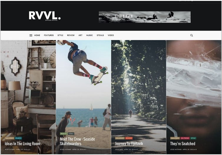 Onfleek-2 - Top 60+ News Magazine WordPress Themes [year]