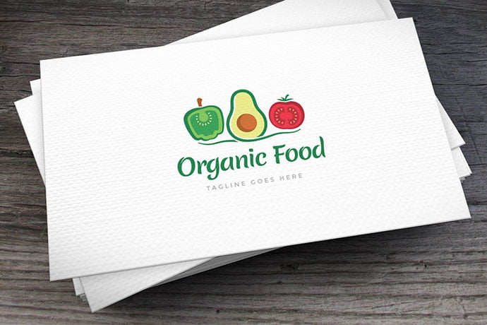 Organic-Food-Logo-Template - 30+ Stunning Fruit & Vegetable Logo Design Templates