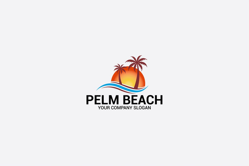 PALM-BEACH - 60+ Strong Tree Logo Design Templates [year]