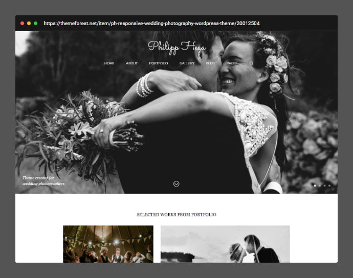 PH - 30+ Wedding Photography WordPress Themes [year]