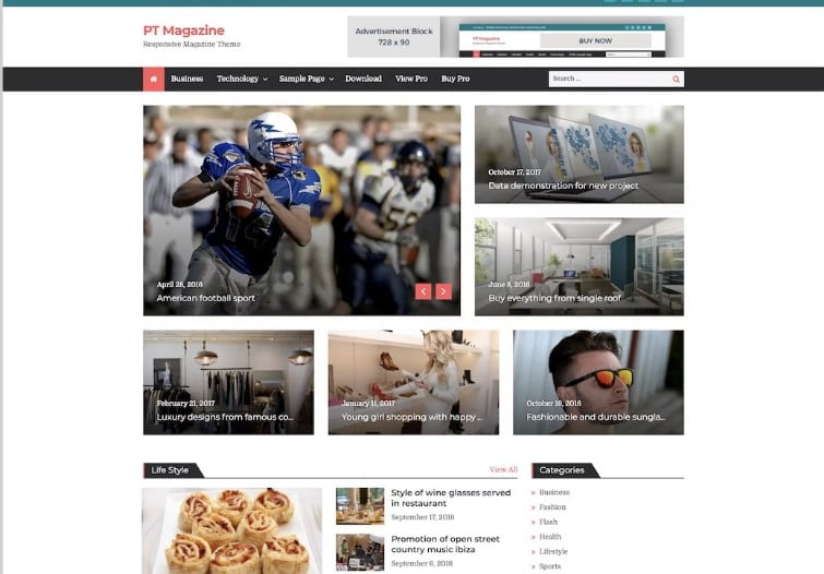 PT-Magazine - 42+ Best Free News Website Templates [year]