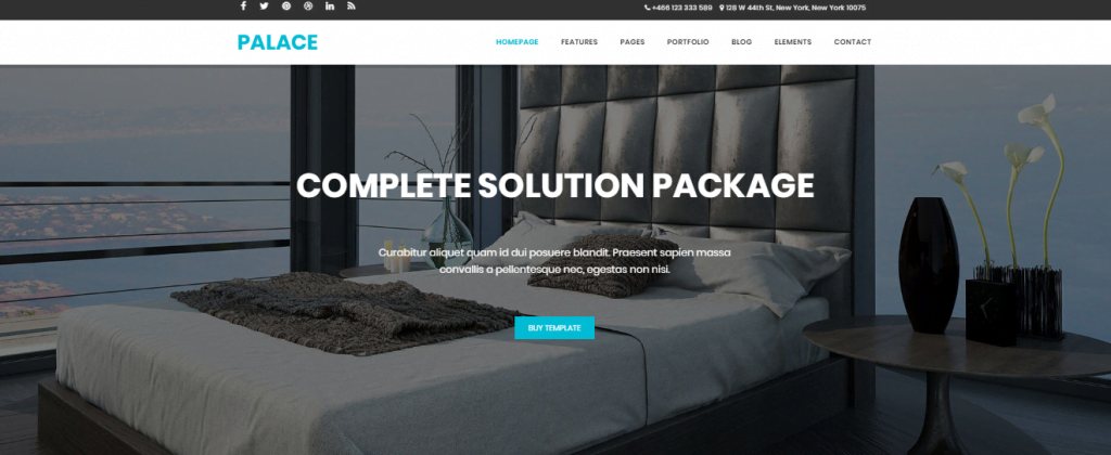 Palace - 60+ HTML Interior & Furniture Website Templates [year]