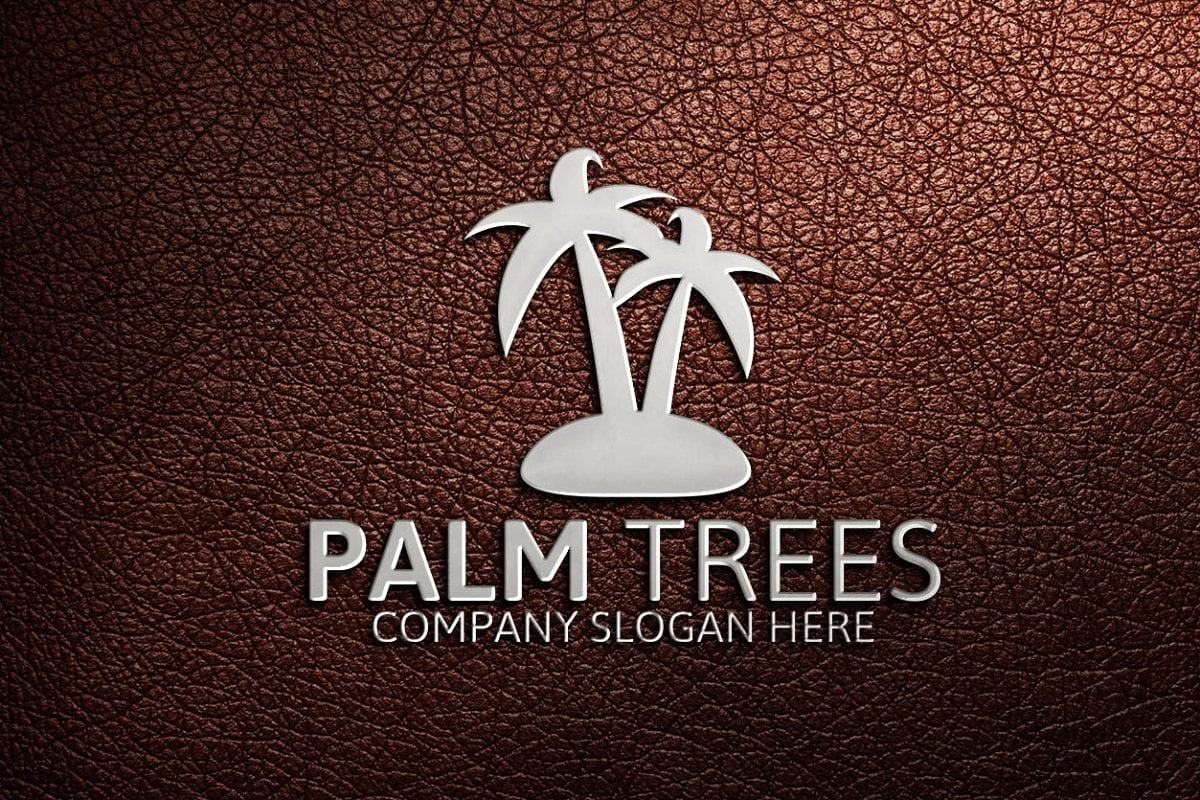 Palm-Trees - 60+ Strong Tree Logo Design Templates [year]