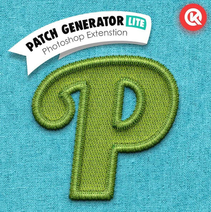 Patch-Generator-Lite - 30+ Embroidery Effect Photoshop Actions & Brushes