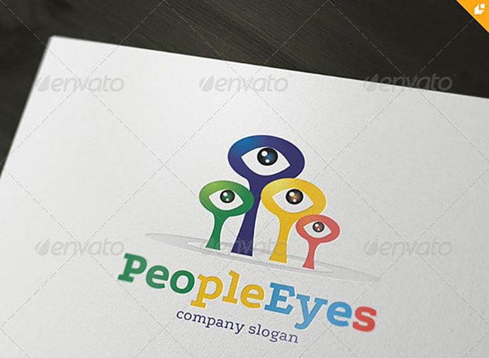 People-Eyes-Logo - 35+ Awesome Eye Logo Design Templates [year]