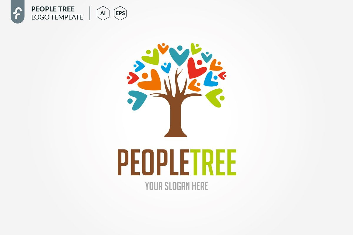 People-Tree - 60+ Strong Tree Logo Design Templates [year]