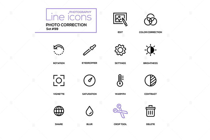 Photo-Correction - 35+ Stunning Photography Icon Sets [year]
