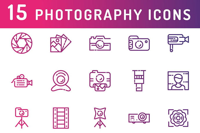 Photography-And-Media-Icons - 35+ Stunning Photography Icon Sets [year]