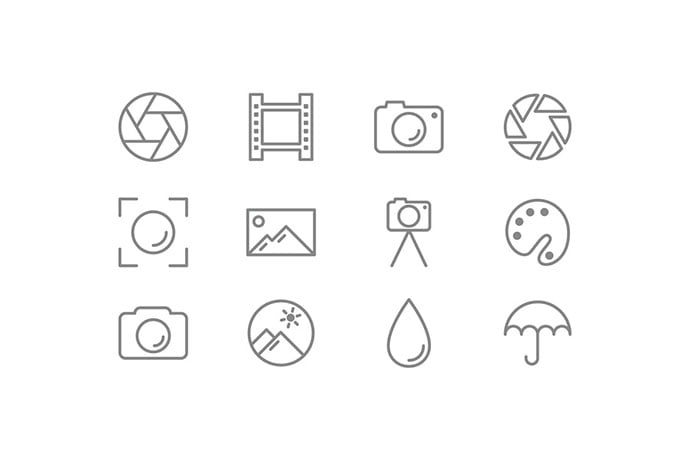 Photography-Icons - 35+ Stunning Photography Icon Sets [year]
