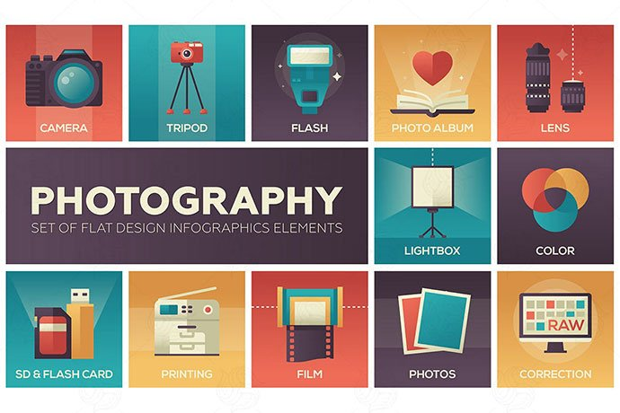Photography - 35+ Stunning Photography Icon Sets [year]