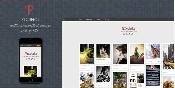 PicShots - 35+ Amazing One Page Inventive Blogger Template [year]