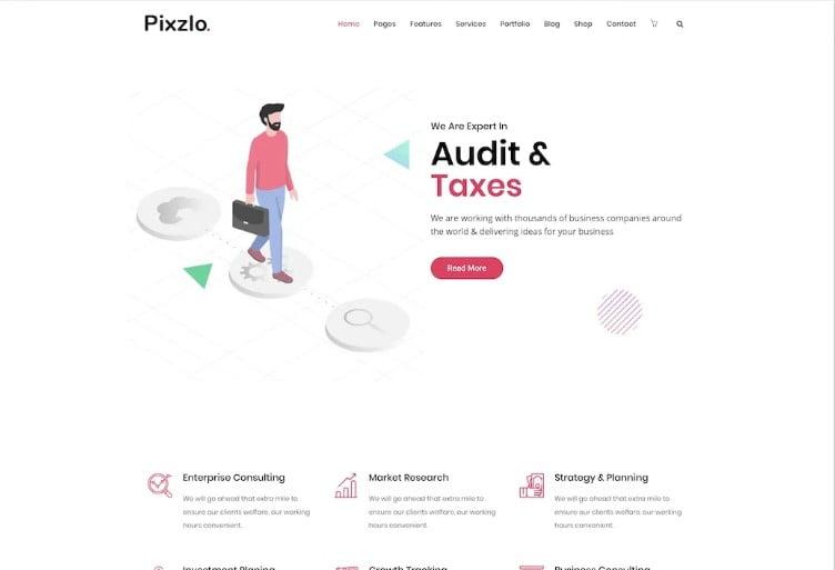 Pixzlo - 38+ Shiny WordPress Themes for Designers [year]
